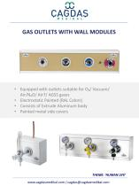 MEDICAL GAS OUTLETS WITH WALL MODULE