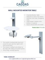 WALL MOUNTED MONITOR TABLE