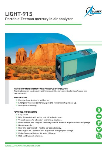 Compact mercury analyzer Light-915