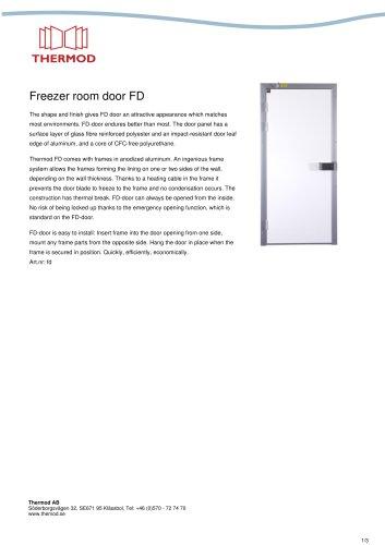 Freezer room door FD