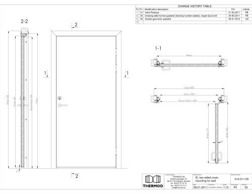 Innerdoor ID / Wet room door / Hygiene door