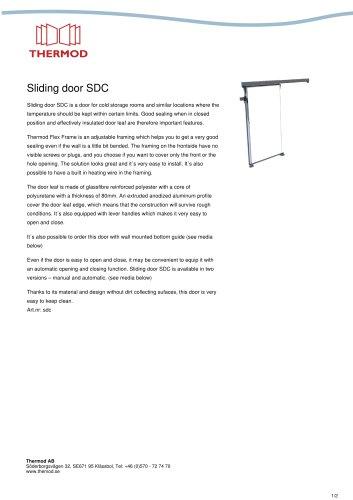 Sliding door SDC