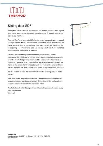 Sliding door SDF