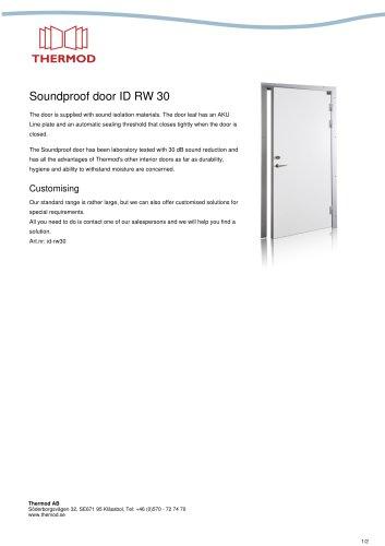 Soundproof door ID RW 30