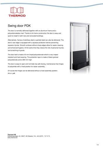 Swing door PDK