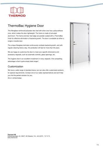 ThermoBac Hygiene Door