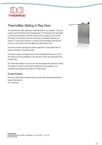 ThermoBac Sliding X-Ray Door