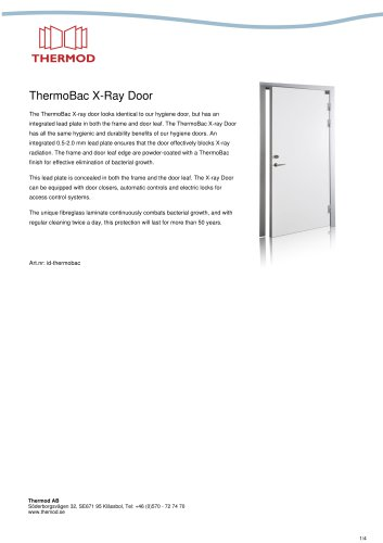 ThermoBac X-Ray Door