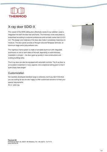 X-ray door SDID-X