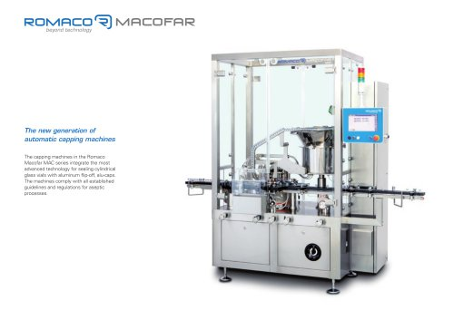 The new generation of automatic capping machines
