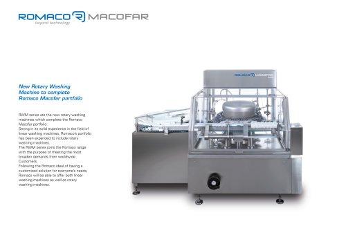 New Rotary Washing Machine to complete Romaco Macofar portfolio