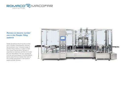 Romaco to become number one in the Powder Filling systems