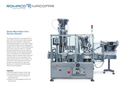 Series Macrodoser from Romaco Macofar