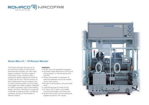 Series Micro 9 / 18 Romaco Macofar