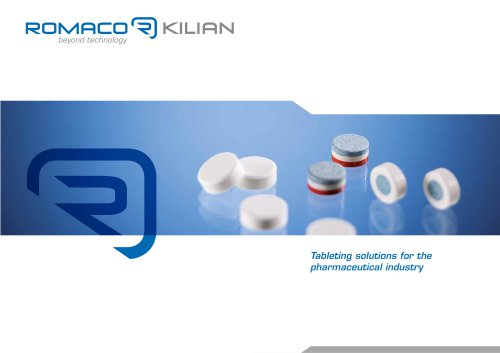 Tableting solutions for the pharmaceutical industry