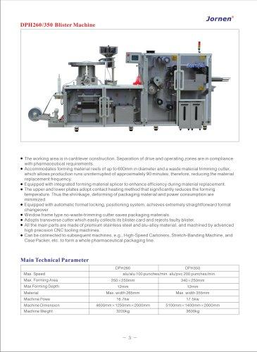 DPH260 High-Speed Blister Machine
