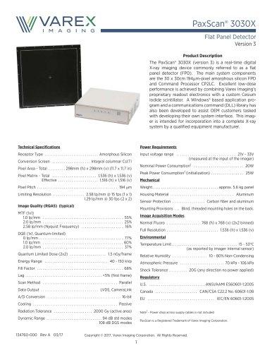 PaxScan® 3030X