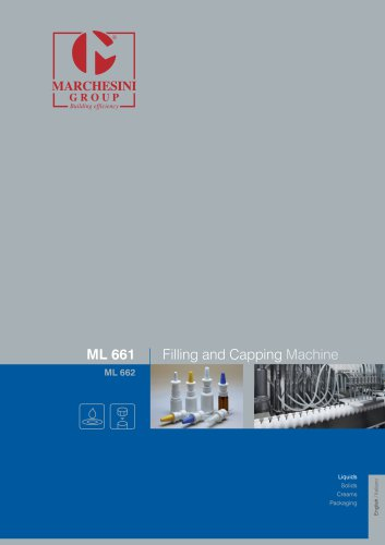 ML 661 Filling and Capping Machine