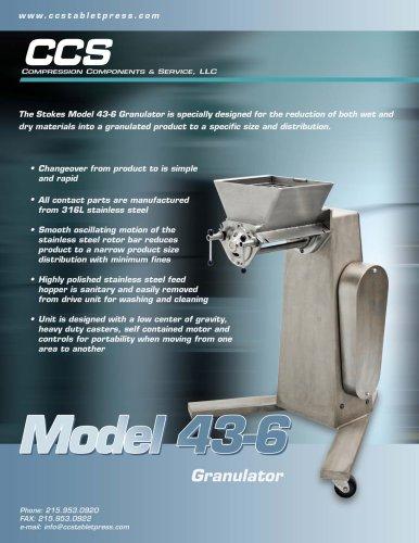 Model 43-6 Granulator