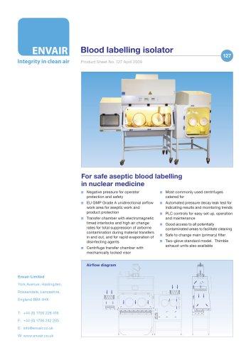 Blood labelling isolators