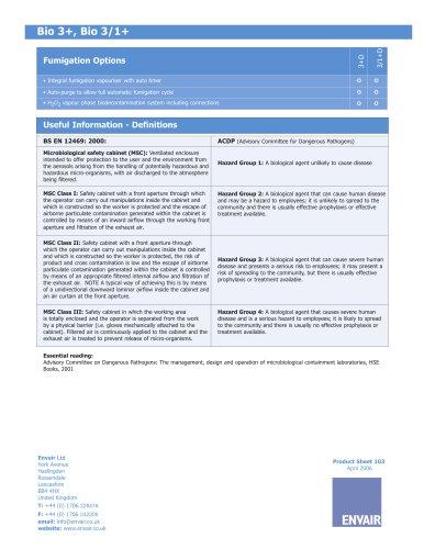 Class III microbiological safety cabinets BIO 3+ & BIO 3/1+