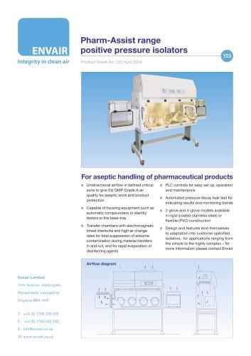 Pharm-Assist range  positive pressure isolators
