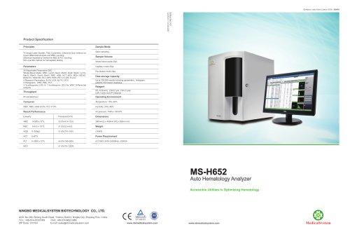 MS-H652 Auto Hematology Analyzer