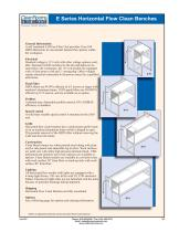 E Series Horizontal Flow Clean Benches