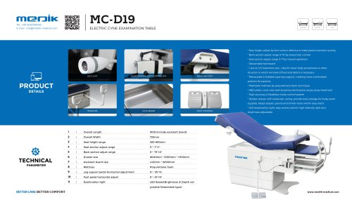 MC-D19 Hi-Low Power Gyn Exam Table