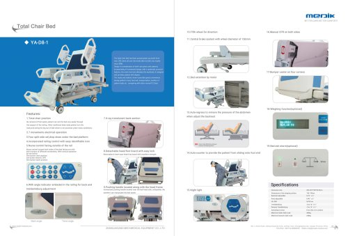 Medik Intensive Care Bed YA-D8-1
