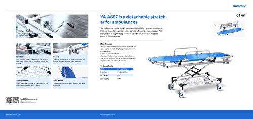 YA-AS07 Collapsible Ambulance Stretcher