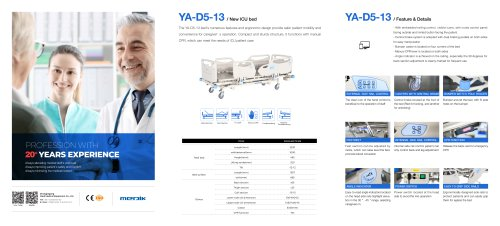 YA-D5-13 Five Function ICU Bed