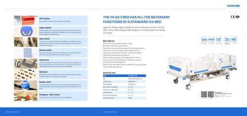 YA-D5-5 Hi Low Medical Adjustable Bed