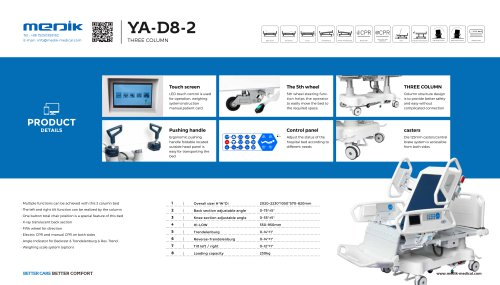YA-D8-2 Intensive care bed
