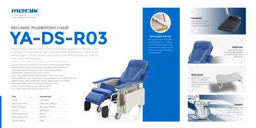 YA-DS-R03 Medical recliner chairs with wheels