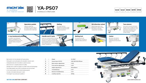 YA-PS07 Hospital Transport Stretcher