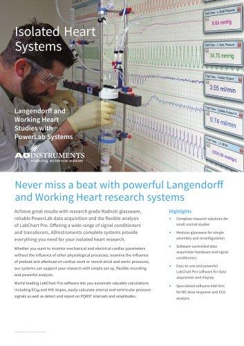 Isolated heart - Working Heart & Langendorff