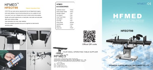 HFMED/HFEOT99/Manual Hydraulic Operating Table