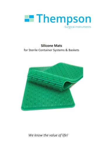 Silicone Mats for Sterile Container Systems & Baskets