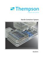Sterile Container System - Wire Baskets