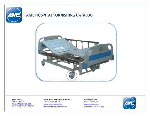 AME HOSPITAL FURNISHING CATALOG