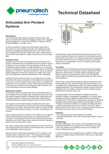Articulated Arm Pendant Systems