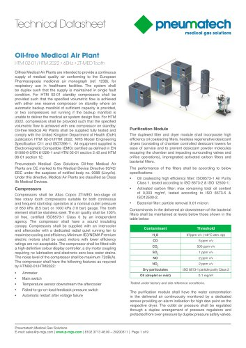 Oil-Free Tooth Medical Air Systems 60 Hz