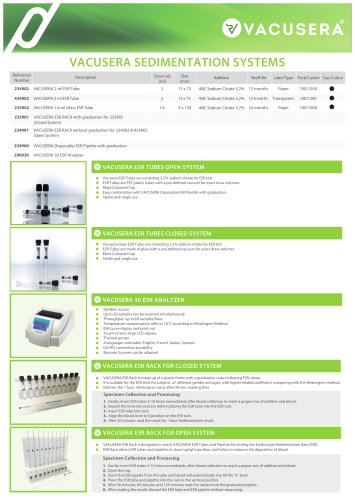 VACUSERA SEDIMENTATION SYSTEMS