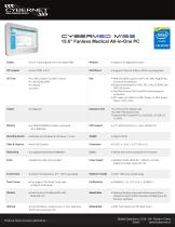 """15.6"""" Fanless Medical Panel PC for Carts - CyberMed M156"""