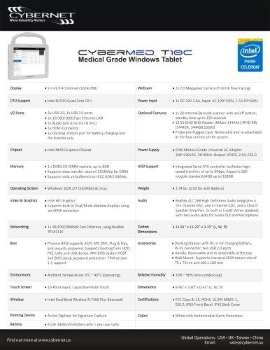Medical Grade Windows Tablet