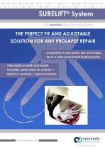 Surelift System Brochure, transvaginal mesh for Pelvic Organ Prolapse repair