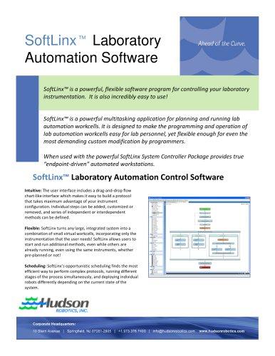 SoftLinx Laboratory Automation Software