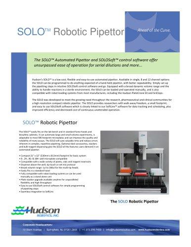 SOLO Robotic Pipettor