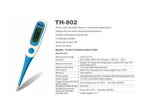 SIMZO Medical digital thermometer TH-802